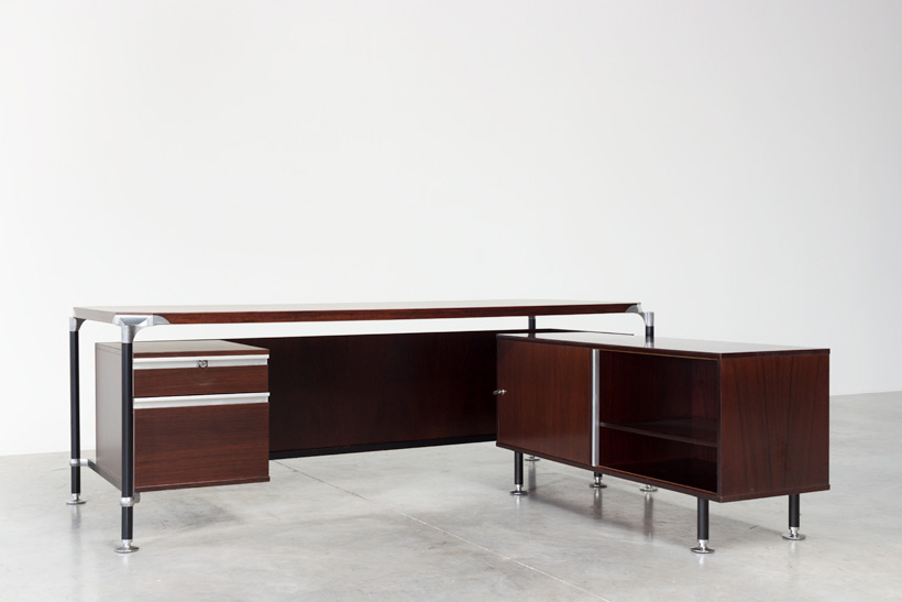 Luisa and Ico Parisi rosewood direction desk for Mobili Italiani Moderni img 4