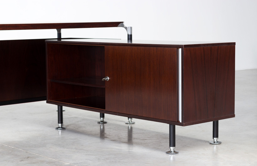 Luisa and Ico Parisi rosewood direction desk for Mobili Italiani Moderni img 6