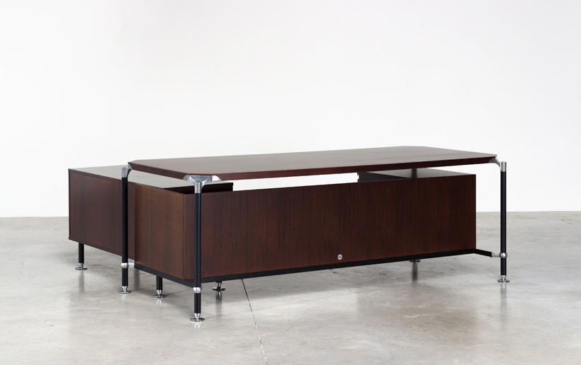 Luisa and Ico Parisi rosewood direction desk for Mobili Italiani Moderni img 7