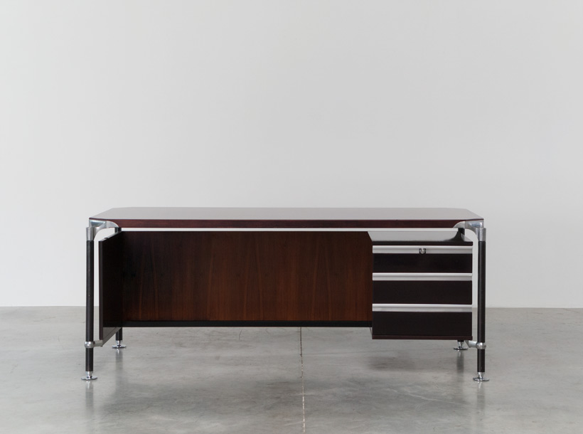 Luisa and Ico Parisi rosewood executive desk for MIM