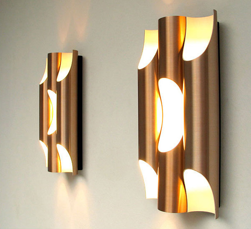 Maija Liisa Komulainen Pair of Raak Fuga organ sconces