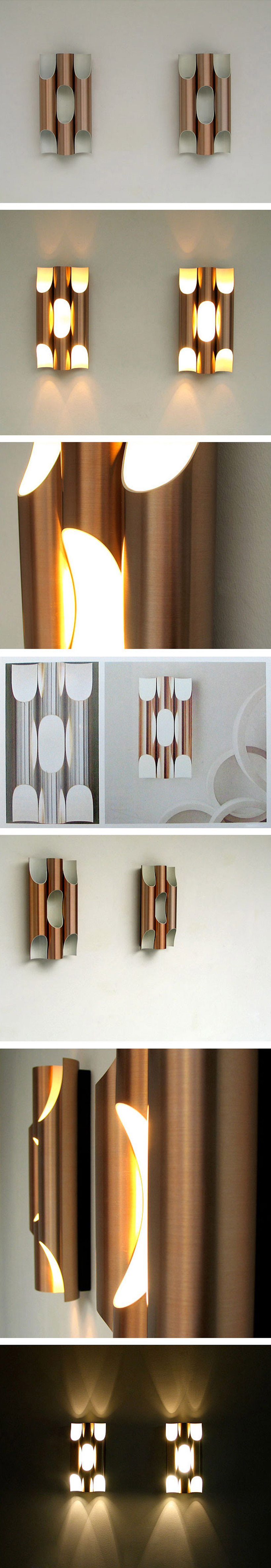 Maija Liisa Komulainen Pair of Raak Fuga organ sconces Large