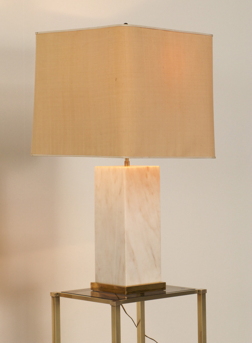Marble table lamp France circa 1970