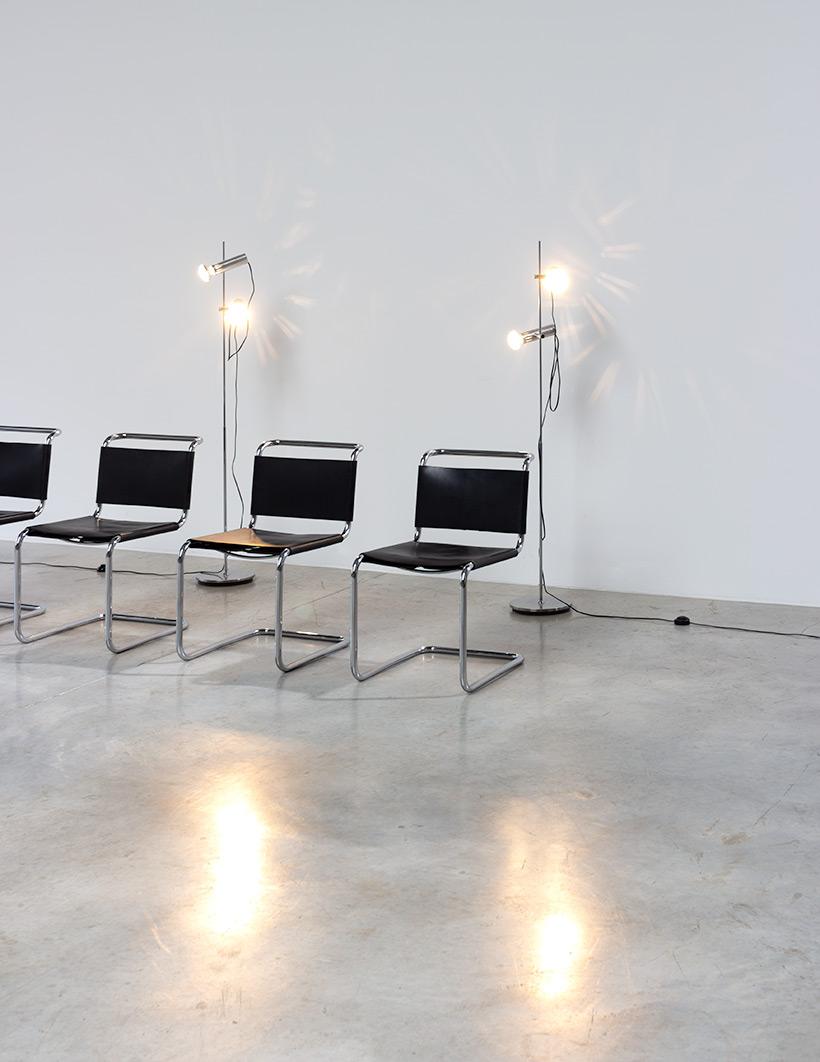 Marcel Breuer B33 Gavina set of four Bauhaus chairs