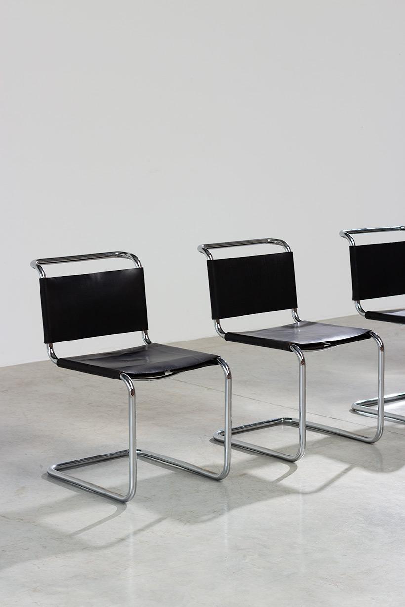 Marcel Breuer B33 Gavina set of four Bauhaus chairs img 3