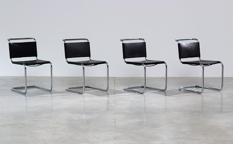 Marcel Breuer B33 Gavina set of four Bauhaus chairs img 6