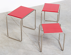 Marcel Breuer B9 Bauhaus nesting tables German Modernism