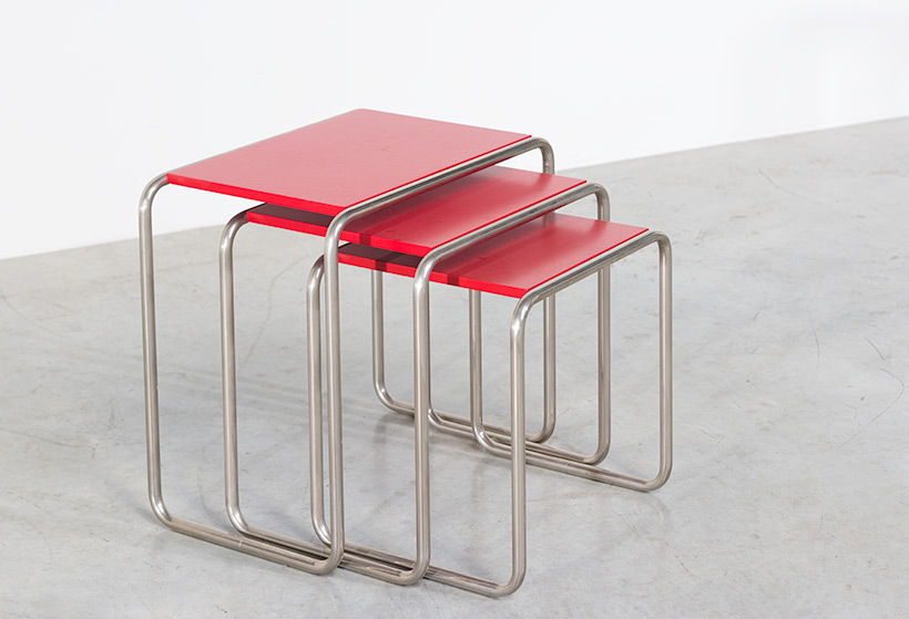 Marcel Breuer B9 Bauhaus nesting tables German Modernism img 3