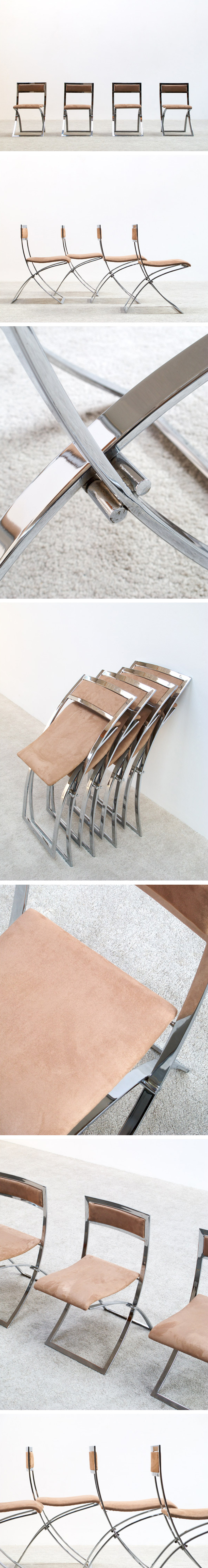 Marcello Cuneo 4 Luisa folding chairs Large