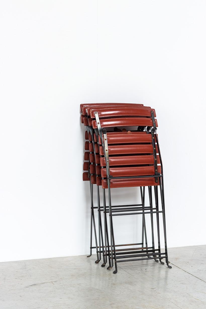 Marco Zanuso set of four folding chairs Celestina Zanotta Italy 1970s