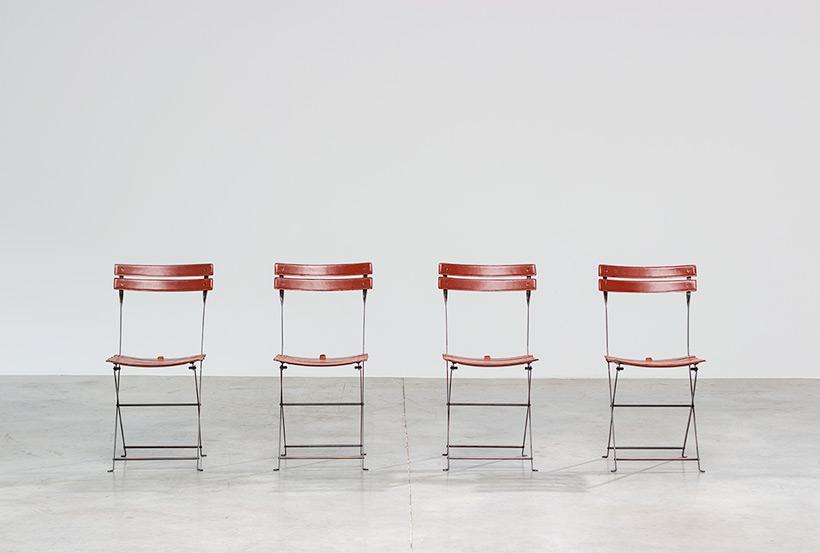 Marco Zanuso set of four folding chairs Celestina Zanotta Italy 1970s img 3