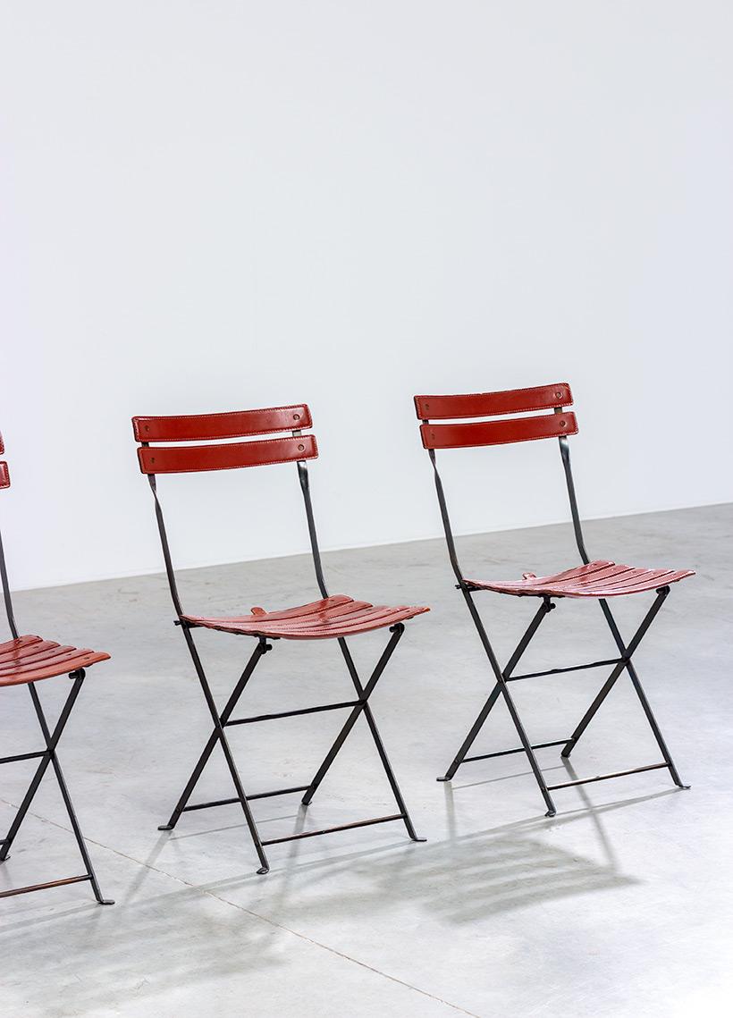 Marco Zanuso set of four folding chairs Celestina Zanotta Italy 1970s img 4