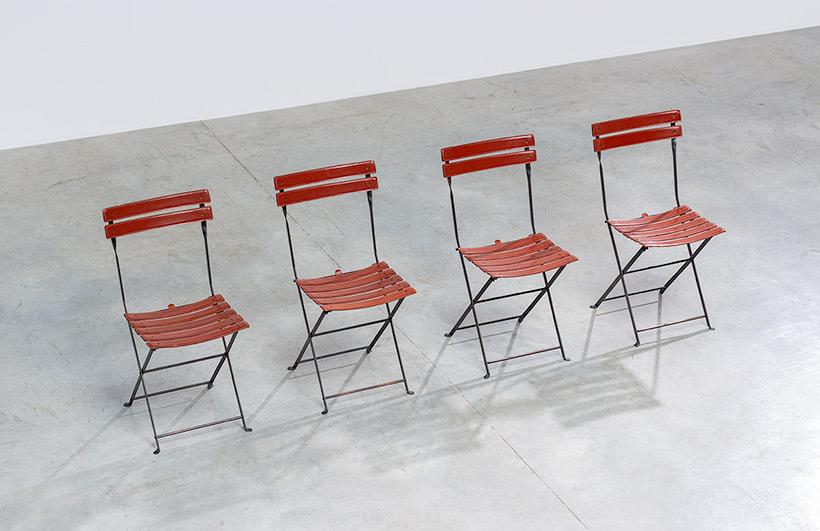 Marco Zanuso set of four folding chairs Celestina Zanotta Italy 1970s img 5