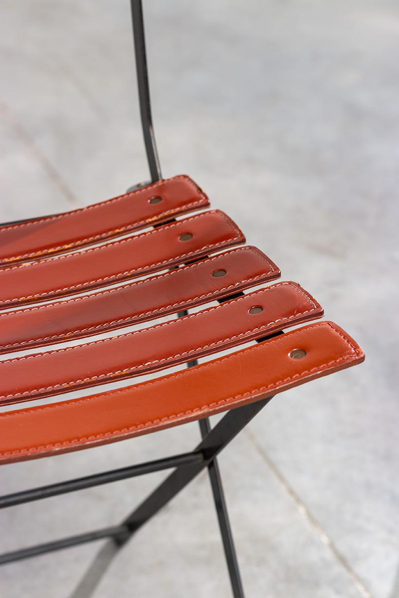 Marco Zanuso set of four folding chairs Celestina Zanotta Italy 1970s img 6