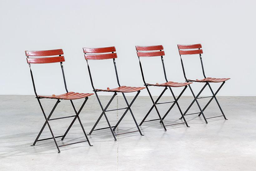 Marco Zanuso set of four folding chairs Celestina Zanotta Italy 1970s img 8