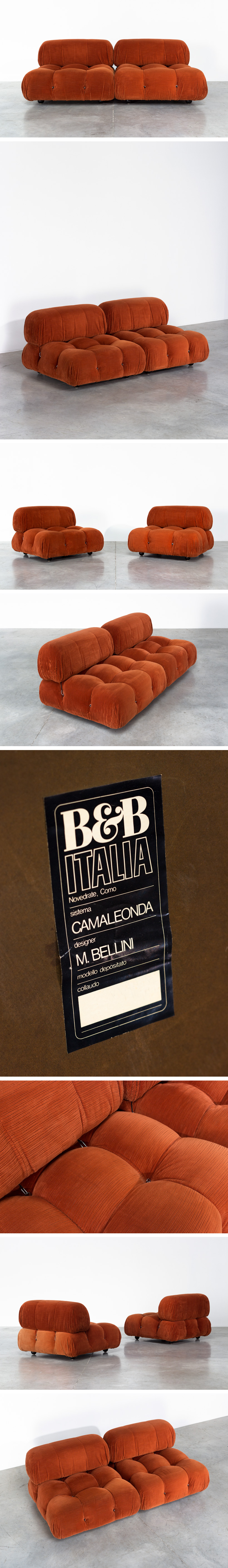 Mario Bellini Camaleonda lounge chairs B&B Italia Large