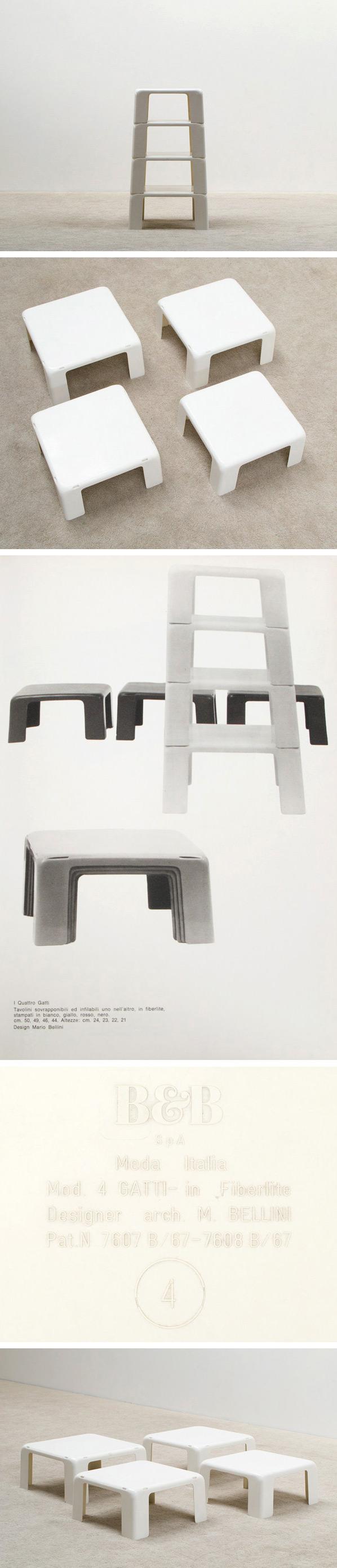 Mario Bellini Quattro Gatti Nesting tables Large