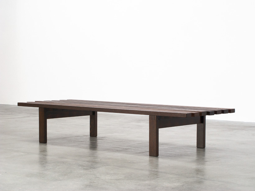 Martin Visser slat bench wenge wood made for Spectrum