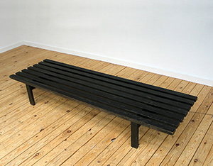 Martin Visser slatted bench for Spectrum 1960