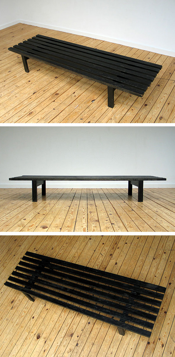 Martin Visser slatted bench for Spectrum 1960 Large