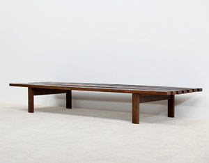 Martin Visser Wenge slatted bench for Spectrum