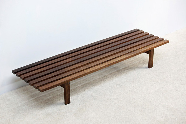 Martin Visser Wenge slatted bench for Spectrum