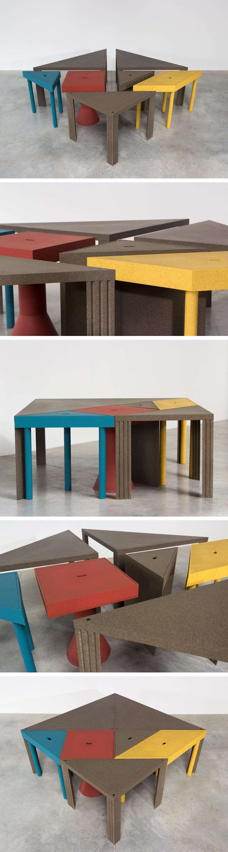 Massimo Morozzi Tangram 300 modular dinning table Cassina Large
