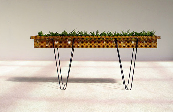 Mathieu Mategot perforated steel flower barge 1950