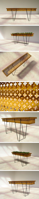 Mathieu Mategot perforated steel flower barge 1950 Large