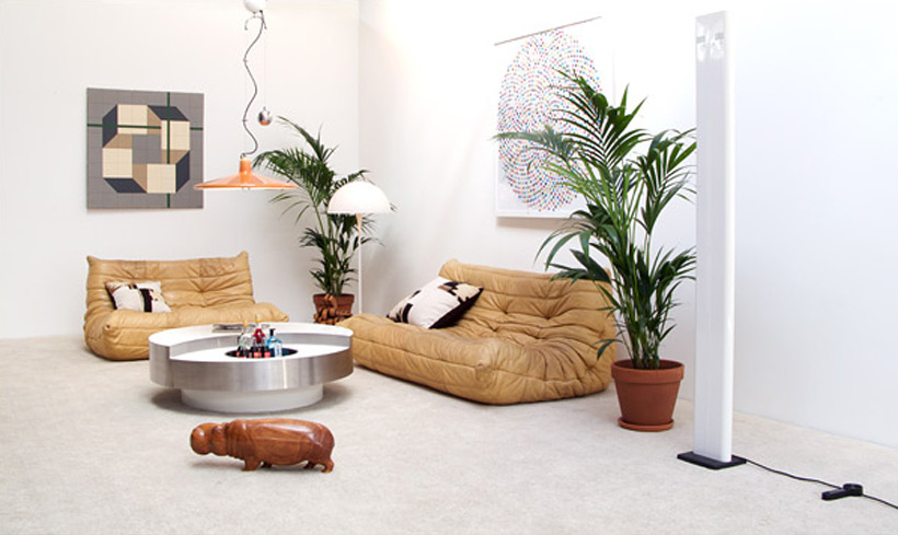 Michel Ducaroy Leather living scape Togo Ligne Roset
