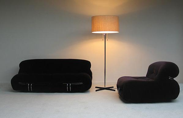 Modern chrome floor lamp 1970