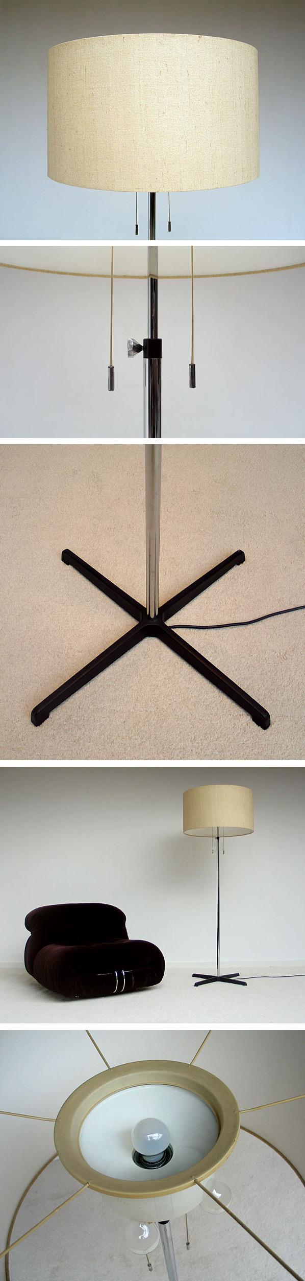 Modern chrome floor lamp 1970 Large