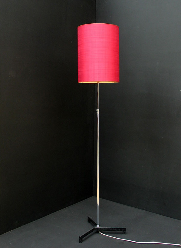 Modern chrome floorlamp Panton Knoll eames