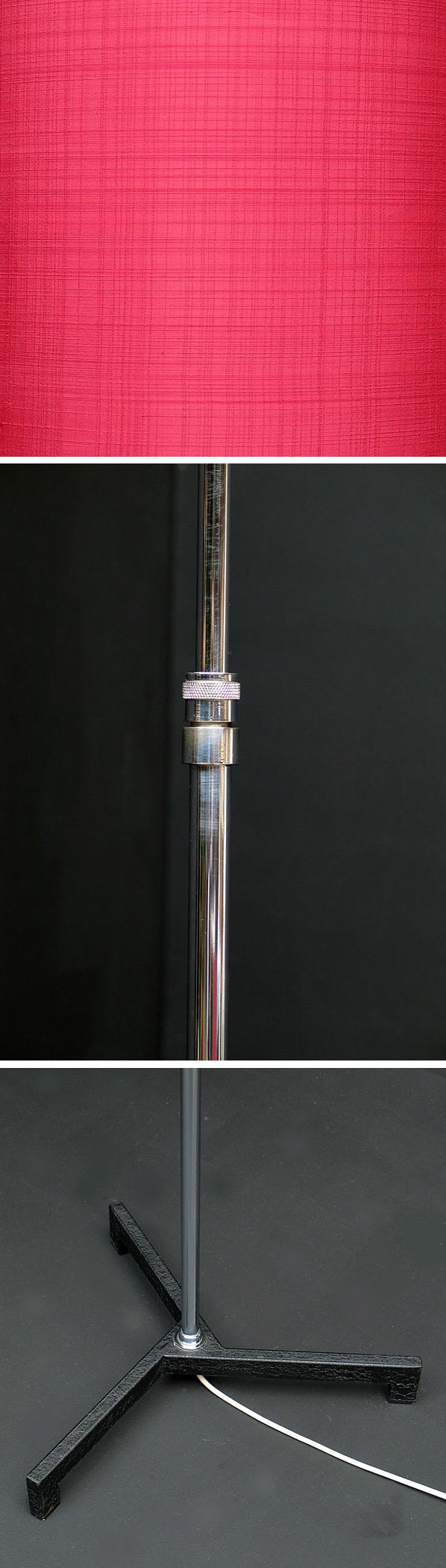 Modern chrome floorlamp Panton Knoll eames Large