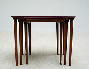 Modern Danish set of 3 nesting tables 1960