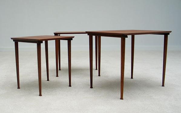 Modern Danish set of 3 nesting tables 1960