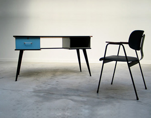 Modern desk and F1-Chair Willy Van Der Meeren 1950