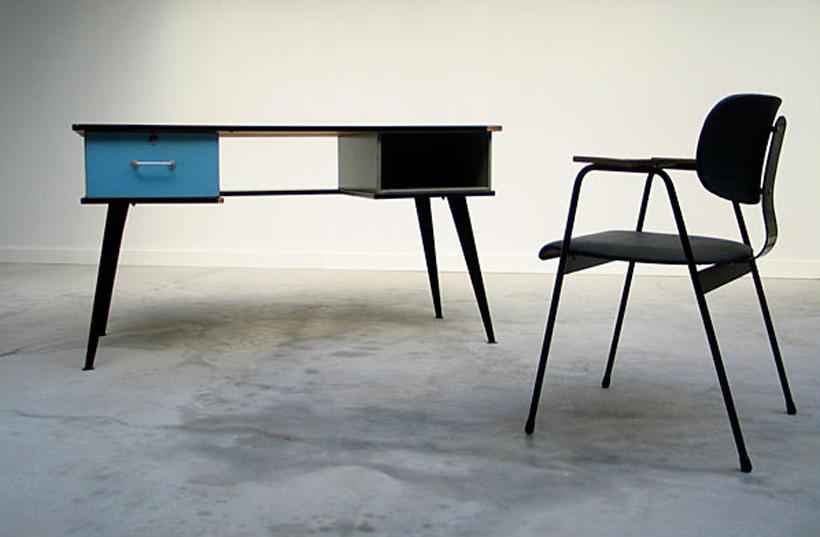 Modern desk and F1-Chair Willy Van Der Meeren 1950