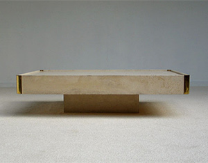 Modern rectangular Coffee table Willy Rizzo 1970