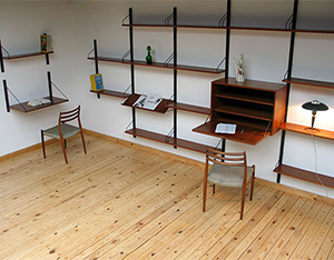 Modern Scandinavian wall unit ROYAL SYSTEM Design Poul Cadovius