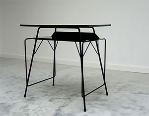 Modern student writing table Willy Van Der Meeren 1950