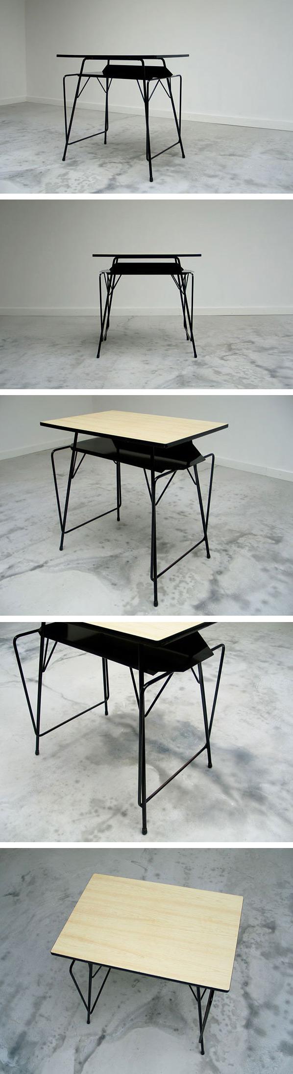 Modern student writing table Willy Van Der Meeren 1950 Large