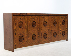 Modern wenge sideboard with graphic doors circa 70