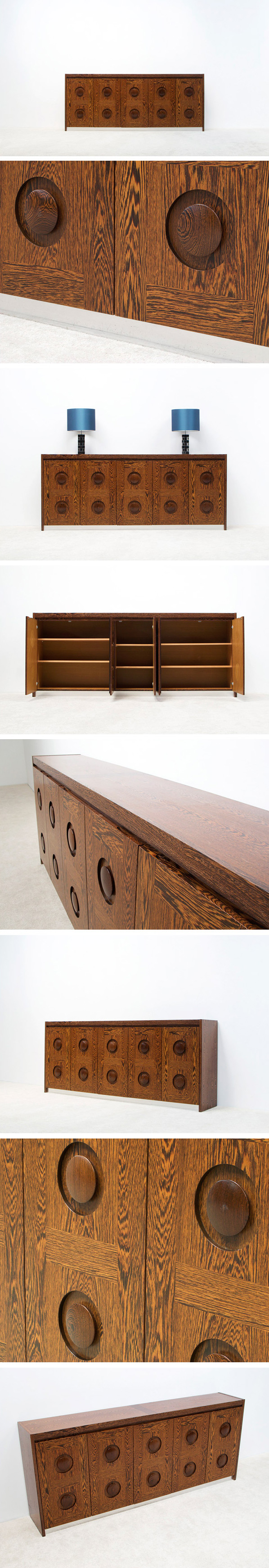 Modern wenge sideboard with graphic doors circa 70 Large