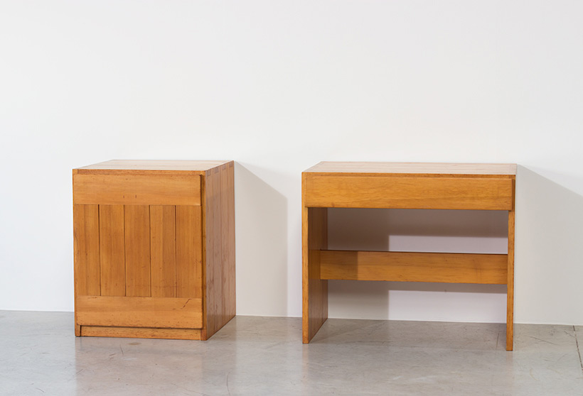 Modernist Swedish desk and cabinet in pinewood img 4