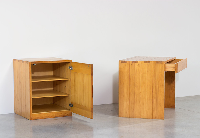 Modernist Swedish desk and cabinet in pinewood img 5