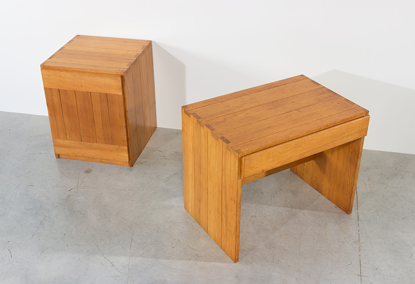 Modernist Swedish desk and cabinet in pinewood img 6
