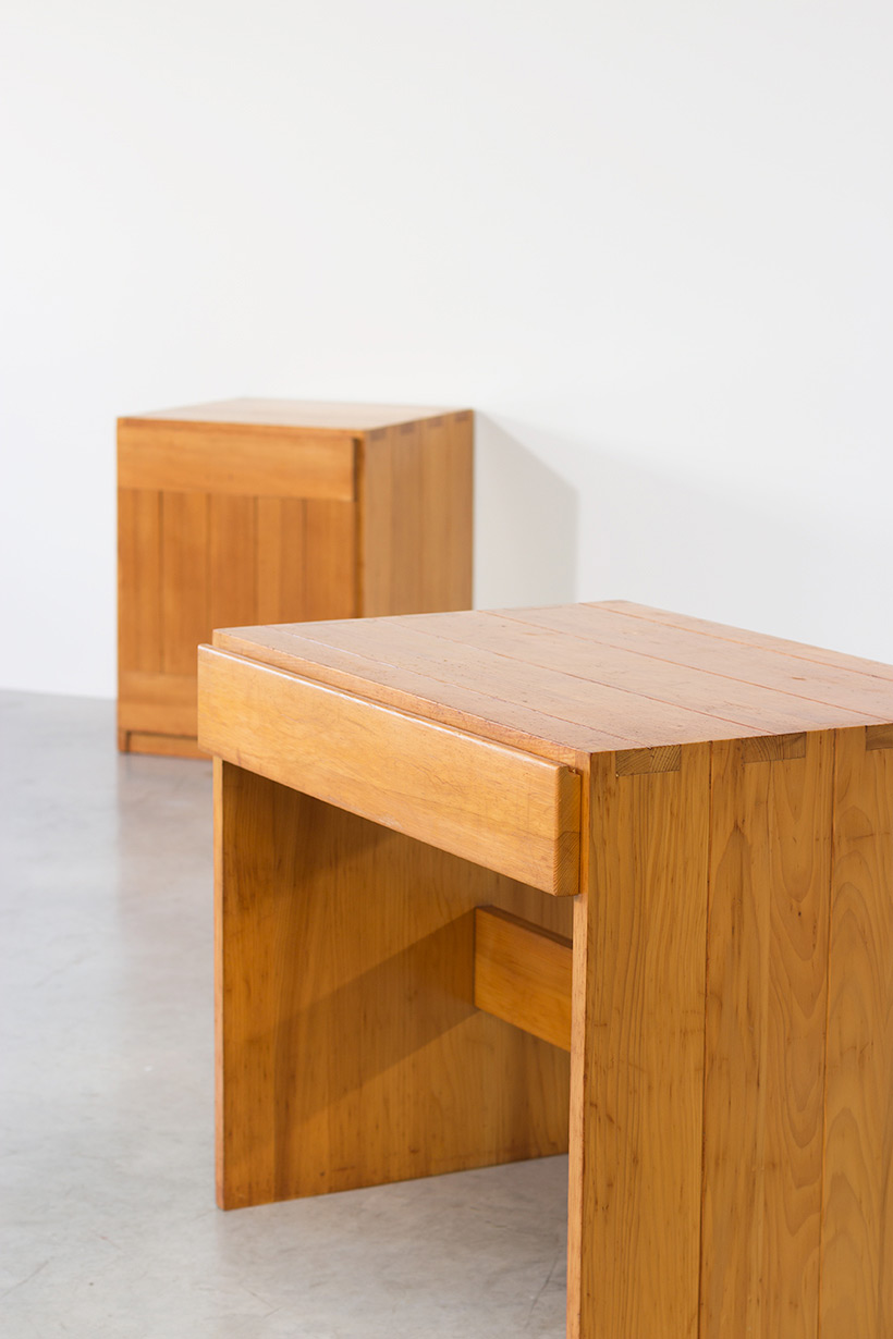 Modernist Swedish desk and cabinet in pinewood img 7