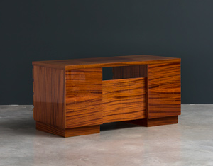 Modernist wooden desk in the spirit of David Hicks