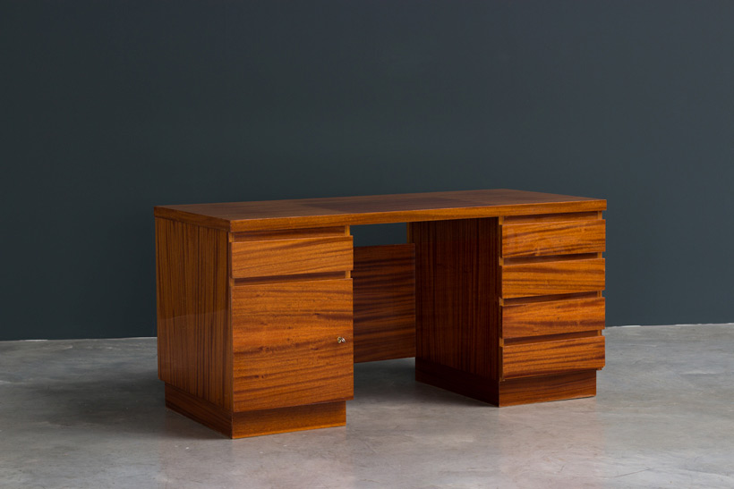 Modernist wooden desk in the spirit of David Hicks img 3